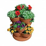 Imagine your home cascading with colorful flowers, tasty herbs, succulent strawberries, or plump tomatoes. With the Akro Mils Medium Stack-A-Pot Stackable Planter you can turn your imagination into reality.