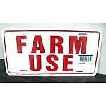 Hang sign in prominent location to inform intended audience of farm use equipment. Weather resistant. Hang sign in prominent location to inform intended audience of farm use. Pre punched holes for easy mounting.