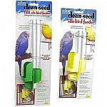 This Clean Seed Silo Bird Feeder by JW Pet Company is an excellent bird feeder to have in your bird cage. Works great and keeps your pet bird's seeds clean and your bird healthier. Saves you money because it releases seeds as needed.