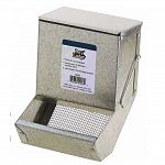 This durable, metal sifter bottom feeder is perfect for feeding your small animal pets. Easy to install to your pet's hutch. Helps to keep food off of the floor and cleaner. Ideaf for use with rabbits or guinea pigs.