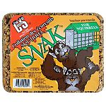 Squirrels love the Squirrel Snak Cake by C and S. This gourmet meal, which contains corn, peanuts, pecans, and gelatin, is the ideal meal for all squirrels and attracts them to your yard. Easy to use and fill in the E-Z feeders. Size is approx. 2.7 lbs.