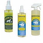 Provides immediate relief to itching, allergies and skin irriations. CALM COAT is an ALL-NATURAL topical spray that works with the skin's natural ability to heal.  4 oz for small animals / 8 and 32 oz for larger animals.
