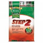 Scotts Lawn Pro Step 2 Weed Control Plus Fertilizer - one application provides 2 months of slow release fertilizer and kills dandelions and other broadleaf weeds. It strengthens and greens your lawn from the roots up.  Size:5,000 sq. ft. coverage.