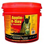 Apple A Day Electrolyte by Finish Line is especially formulated to replace lost minerals and electrolytes in your horse. Helps to prevent dehydration and helps with water and food intake. It has apple flavoring that tastes great to horses.