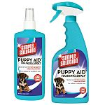 SIMPLE SOLUTION® Potty Training Aid for Puppies is a scientifically formulated attractant. Using this product will help train a puppy to urinate in the appropriate area. It is made for both outdoor and indoor use.