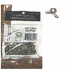 Stainless steel wire clips for posts. 20 pack.  3/8 inch