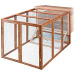 Securely attaches to hutch to expand pets living space while keeping them enclosed and safe from predators. Assembles easily with just a screwdriver