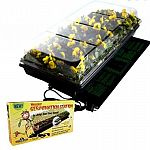 Includes waterproof heat mat, 3 tall humidity dome, 11 x 22 inch watertight base tray and 72-cell seedling insert. Give seedlings a warm, moist environment for a strong start.