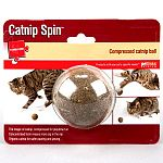 Compressed catnip ball contains organic catnip safer for pawing and jawing. Your cat gets more zip in the nip thanks to the concentrated form of the ball.