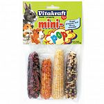 Mini corn-cob looking treats for rabbits, mice, hamsters and other small pets. Crunchy, tasty, special-time treats. 1-3 mini-pop corn cobs per week.