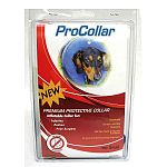 Soft, comfy inflatable collar for injuries, rashes or post-surgery. Allows pets to eat, sleep and play at ease while staying protected. Will not mark or scrape furniture. Sturdy, canvas-lined outer jacket protects air bladder completely from scratches and