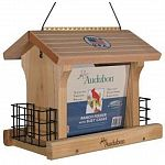 This large ranch suet feeder is constructed of natural cedar using zinc chromate screws and anodized aluminum hinge for durability. This attractive feeder is ideal for feeding various types of birds. The hinged roof allows for easy filling and cleaning.