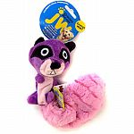 Stuffing free plush toy with cracklin bottle ball inside each plush head Provides the crackle sound and feel that dogs love A squeaker in the belly adds to the fun