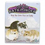 Super Pet's Critter Bath Powder is essential for giving your little pet a dust bath. Formulated for hamsters mice and gerbils who love dust baths. Made of all natural mountain pumice that is ground to a fine dust. Use with a dust bath container. Size is 1
