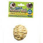 The Mini Nature Ball by Ware is a fun, mini-sized ball that is lots of fun to play with and designed for your small animal pet. Made of natural sisal material, so it's safe to play with. Has a fun and noisy bell inside. Your little pet will enjoy chasing