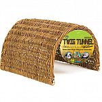 Made from a renewable resource. All natural wicker hides safe for chewing or snuggling. Most small critters love to have places to snuggle down in. Available in three sizes. Perfect hideout for hamsters, gerbils, mice, and rats.