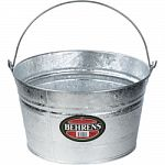 High grade steel tub for household and utility use Double-seamed bottom with reinforced top Easy carry, extra heavy bail handle