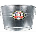 Ideal for planters, storage, decor and more Durable, the strength of steel Vintage classic look Won t absorb odors or leach into food Weather resistant - won t rust Offset bottom keeps tub off the ground