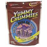 Yummy Chummies Salmon Dog Treat - Bacon Soft N' Chewy - Dogs go absolutely crazy for these salmon treats and your dog will too! We guarantee that your pet will love Yummy Chummies. Manufactured in Alaska, using Alaskan Salmon.