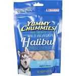 Soft and chewy dog treats rich in omega 3 fatty acids for healthy skin, coat, and heart Made with wild alaska halibut, and natural flavors and colors Corn and soy free Made in the usa