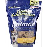 Soft and chewy dog treats rich in omega 3 fatty acids for healthy skin, coat, and heart Made with wild alaska salmon, and natural flavors and colors Corn and soy free Made in the usa