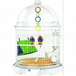 Contains: bundle bird (base, dome, cap), cage riser, bedding tray, bioclips, optional bird bar included Expandable and adaptable Secure-with multiple points of access Tall cage riser with two access doors Removable bedding tray for easy upkeep Crystal cle