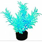 Designed in bright fluorescent colors, this gravel base plant anchors nicely Soft plastic leaves & branches that are sturdy enough to stand up on their own, but soft enough to sway in the water. Safe for fresh or salt water