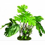 Designed with natural colors, this gravel base plant anchorsnicely Soft plastic leaves & branches that are sturdy enough to stand up on their own, but soft enough to sway in the water Great for terrariums. Safe for fresh or salt water.