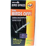 Stainless steel needle strips keep birds off ledges, sills, gutters and conditioners and so much more Harmless to birds - they see the spikes and stay away Simple to stall Permanent Maintenance-free