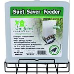 Holds 1 standard suet or seed cake Saves your suet up to 1000% longer or more Deters starlings, grackles and other large birds from feeding Chickadees, nuthatches, & woodpeckers can fly in upside down to feed Complete feeder, just add suet or seed cake