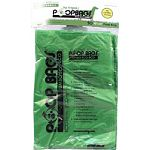 Ecofriendly and economical. Large bags contain 10% post-consumer and 20% post-industrial recycled material. Ideal for value-seeking, responsible customers. Easier to tie knots, great for cleaning out litter boxes and ideal for large dog owners. Dimensions