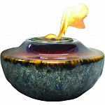 Crafted of ceramic and hand glazed with beautiful reactive glazes each one unique Burns convenient, easy to use fire accent solid fuel gel in single use cans Includes metal snuffer for easy extinguishing Perfect for enjoying table top fire or to use as li