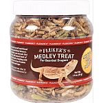 Complete balanced nutrition Vitamin enriched formula Contains freeze dried mealworms, grasshoppers, and crickets