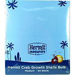 Bulk shells for hermit crab to grow into Keep different size shells in crab enclosure and should be larger than the shell the crab currently lives in Crab will choose a different size shell at each stage of growth