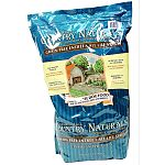 Natural, grain free dog food with vitamins and minerals added. Three healthy proteins from chicken, pork and whitefish sources. Ingredients for a healthy skin and coat - chicken fat, flaxseed, and herring oil. Nutritious fruits and vegetables - peas, kelp