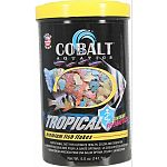 Formulated for all tropical fish Nutritionally balanced for beautiful color, consistent growth and palatability Enhanced with probiotics and cobalt blue flakes triple vitamin dose and immunostimulants Will not cloud water