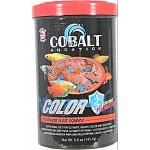 Color enhancing formula for all tropical fish Nutritionally balanced for consistent growth, palatability, with added ingredients to promote stunning color Enhanced with probiotics and cobalt blue flake s triple vitamin dose and immunostimulants Will not c