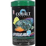 Spirulina based formula for all freshwater and marine herbivorous fish In addition to high algae content formula is complete nutritionally balanced, highly palatable, and promotes growth and color Enhanced with probiotics and cobalt blue flake s triple vi