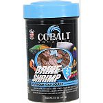 Brine shrimp based formula for all tropical and marine fish Highly palatable formula helps both fresh water and marine finicky fish to eat prepared foods Enhanced with probiotics and cobalt blue flake s triple vitamin dose and immunostimulants Will not cl