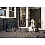 Perfect for sectioning off areas on your deck, patio, and lawn to keep pets away from a specific area Gives your pets their own area to play and lounge outside Includes six 24 inch panels that are configurable and removable to customize your outdoor space
