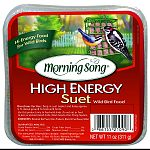 High-energy food for wild birds Designed to attract a variety of wild birds For use with morning song suet basket