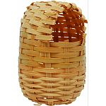 Encourages courtship, breeding and nesting behaviors. Made from bamboo hand-woven around a sturdy wire frame. Ideal home for nesting birds.
