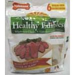 Nylabone Healthy Edibles variety pack chews (chicken and roast beef) are the all natural gourmet health chews that contain no plastic and no added salt or sugar. They are edible and digestable and provide an enjoyable alternative to traditional rawhide.