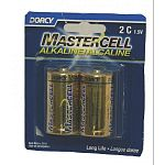 Mastercell Alkaline C Batteries are Mercury and Cadmium free batteries that perform better than other leading brands, but are more affordable. These Alkaline Manganese batteries are compatible with any electronic device the uses a C battery.
