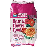 Master nursery label High phosphorous formula for strong flower bud development 1-2-1 ratio ideal for sturdy growth in roses 80% n fast acting for heavy feeders like roses High calcium for stronger cell walls; sweeter soils