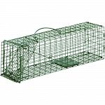 Ideal for live trapping of small squirrels, chipmunks, rats and more All steel rod gravity single drop door with bait protected cage mesh Constructed to provide for durability and no harm to animals