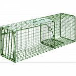 Ideal for live trapping of rabbits, large squirrels, ferral cats, skunk and more All steel rod gravity single drop door with bait protected cage mesh Constructed to provide for durability and no harm to animals