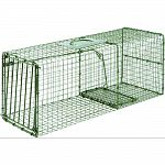 Ideal for live trapping of raccoons, ferral cats, armadillos and more All steel rod gravity single drop door with bait protected cage mesh Constructed to provide for durability and no harm to animals