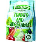 Formulated for tomatoes and all types of vegetables. Contains ammonic and organic nitrogen.   Made in the usa.