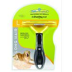 For long hair dogs 51 to 90 pounds. 4 inch deshedding edge designed for coats longer than 2 inches. Reduces shedding up to 90 percent. Stainless steel edge reaches beneath topcoat to gently remove undercoat and loose hair. Furejector button cleans and rem